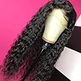 Giannay Hair Curly Wigs for Black Women Lace Front Wigs with Baby Hair Long Loose Wave Synthetic Wig...