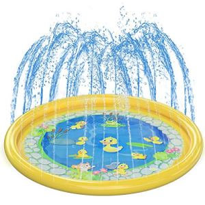 Kids-Splash-Pad-Water-Play-Mat-Girl-Boy-Summer-OutdoorGardenBeach-Burst-Sprinkler-Pad-Sprinkle-Wading-Pool-68in-Water-Spray-Mat-Toys-Games-For-BabyChildrenToddlerPets-Activities