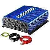 Kinverch 2000W Pure Sine Wave Power Inverter Converts12V DC to 110V AC with USB Port