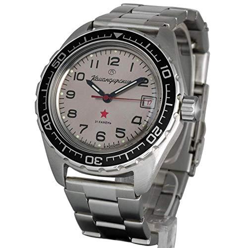Vostok Komandirskie 200 WR Mechanische Automatik-Armbanduhr mit Automatikfunktion #020708