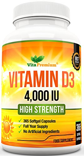 Cápsulas Blandas de Vitamina D3 365 (Suministro de un año),...