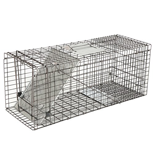 ZENY Live Animal Cage Trap 32' X 12.5' X 12' w/Iron Door Steel Cage Catch Release Humane Rodent Cage for Rabbits, Stray Cat, Squirrel, Raccoon, Mole, Gopher, Chicken, Opossum, Skunk & Chipmunks