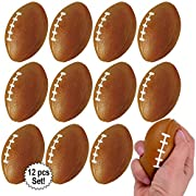 Great for Everyone! - Children and adults will enjoy throwing and squeezing these mini foam sports balls! Great for relieving stress. Makes for a great party favor and for Sports theme parties! Each pack includes 12 balls. Sets available in all Footb...