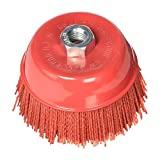 Al's Liner Abrasive 180 Grit Nylon Bristle Cup Brush - 6 Inch - Safe for Use on Metal, Wood, Aluminum and Plastic Surfaces (TOOR6)
