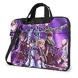 XCNGG Sword Art Online Anime Laptop Hombro Messenger Bag Tablet Computer Storage Mochila Bolso 15.6 Pulgadas