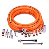 WYNNsky 3/8' X 25ft PVC Air Compressor Hose Kit With 17 Piece Air Tool and Air Compressor Accessories Kit