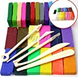 ZREAL 5Tool + 32Couleurs Four Cuire Polymer Clay Block modélisation Moulage...
