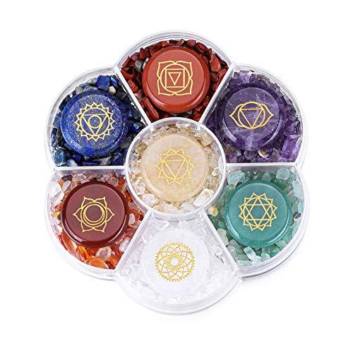 CrystalTears 7 Chakra Crystal Stones Natural Reiki Healing...