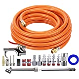 Tool Daily Air Compressor Kit, 3/8 Inch X 25 FT Hose, 18 Pieces Air Tool Accessories, 1/4 Inch Fitting