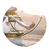Arcturus Rincon Hammock Hitch Outdoor Camping, Hand Made in USA Collapsible Bring Your Own Hammock, Travel Mobile, Minimalist Camping Solution - Fits Standard 2' Receiver -Black