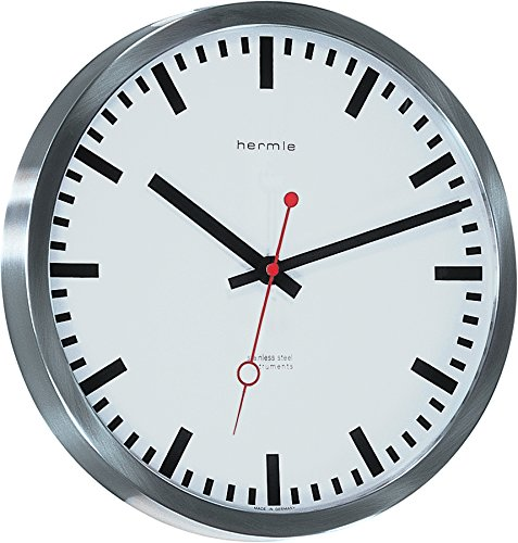 Hermle Uhrenmanufaktur Wanduhr, Silber