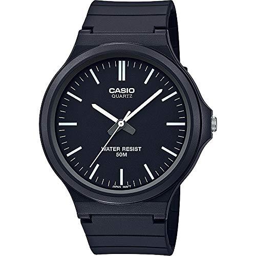 CASIO Unisex Erwachsene Analog Quarz Uhr mit Harz Armband MW-240-1EVEF