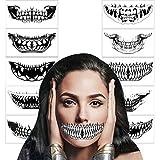 HOWAF 10Hojas Tatuajes Temporales de Halloween,Impermeables tatuaje temporal de...