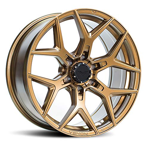 VENOMREX VR-601 20 Inch Flow Forged Wheel Compatible with 09-20 Ford F-150 and Raptor 6x135 Bolt Pattern, 20x9 (+12mm Offset), 87mm Bore, Desert Bronze - 1 PC