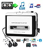 2019 Cassette to MP3 Converter USB Cassette Player from Tapes to MP3 Converter for Laptop, PC and Mac Work for Window iOS Convert Walkman Cassettes to Digital Format