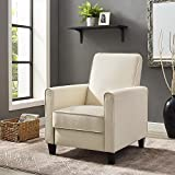 Naomi Home Landon Push Back Recliner Upholstered Club Chair Cream/Linen