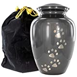 Gray Large Pet Urn for Dogs Ashes – A Loving Resting Place for Your Special Dog or Cat – for Large Pets up to 122 Pounds