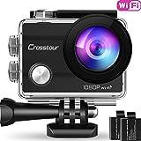 Crosstour Caméra Sport Full HD WiFI étanche 30M 14MP 170 °GrandAngle 2...