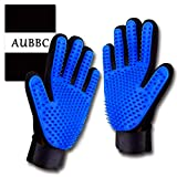 AUBBC Pet Grooming Glove 2 PCS, Upgraded 259 Soft Pet Hair Remover Gentle Deshedding Brush Glove ,Deshedding Tool for Cats Dogs - Efficient Pet Hair Remover Mitt