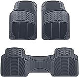 Amazon Basics 3 Piece Rubber Car Floor Mat, Grey