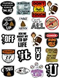 20 Pack Hard Hat Stickers, Tool Box Decals, USA Made 100% Vinyl