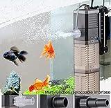 LONDAFISH Réservoir de Poissons Pompe à Eau 3-en-1 Pompe Submersible...