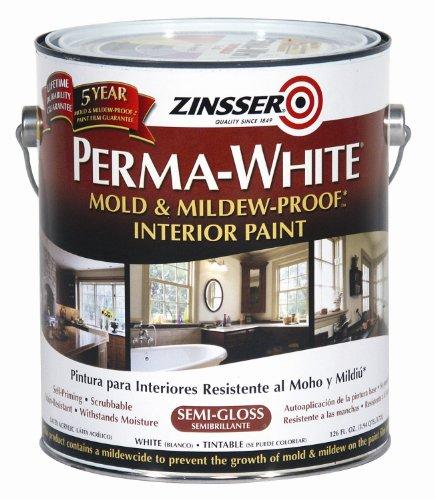 Rust-Oleum 02761 Perma-White Mold & Mildew Proof Interior Paint, SemiGloss Finish