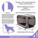 SportPet-Designs-Large-Pop-Open-Kennel-Portable-Cat-Cage-Kennel-Waterproof-Pet-bed-Carrier-Collection