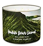 Bath and Body Works Waikiki Beach Coconut Three Wick Scented Candle for 2019 14.5 oz (coconut, saltwater breezes, woods)