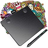 Parblo A640 Drawing Tablet with 8192 Levels Battery-Free Stylus Pen, 6x4 Inch Graphic Drawing Tablet for Digital Art Works, Drawing, Sketch, Design, Paint