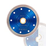 Peakit Tile Cutter Blade 4.5 Inch Porcelain Diamond Blade Ceramic Cutting Disc Wheel for Angle Grinder, Reversible Color