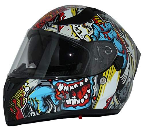 Protectwear Moto Casque intégral intégré et Pare-Soleil Rabattable V128-MU-XL V128-MU Hommes, Multicolore, XL