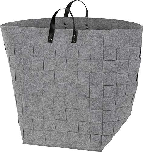 Möve Wäschekorb grau