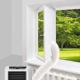400CM Guarnizione Universale per Finestre per Condizionatore Portatile,Asciugatrice,Kit Condizionatore Finestra,Facile da installare,con nastro e design con cerniera