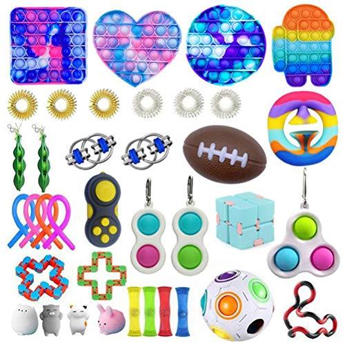 Viznte 37Pcs Fidget Toys Set,Relieves Stress and Anxiety...