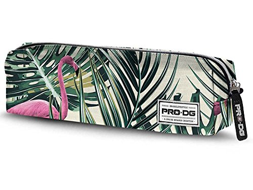 PRODG PRODG Square Pencil Case Flamingo Astuccio, 22 cm, Multicolore (Multicolored)