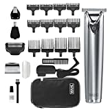 Wahl Stainless Steel Lithium Ion 2.0+ Slate Beard Trimmer for Men - Electric Shaver, Nose, Ear...