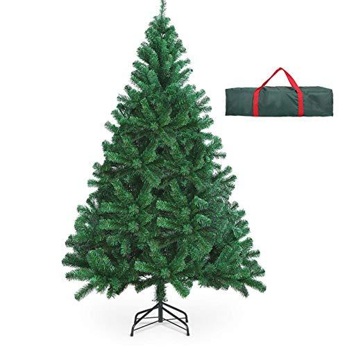 OUSFOT Árbol de Navidad Artificial Árbol Navideña 182 cm 800 Ramas Material PVC Natural Verde con Soporte en Metal