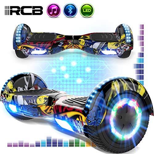 RCB Hover Board da 6,5 Pollici per Bambini e Ragazzi Scooter Elettrico autobilanciante con Bluetooth...