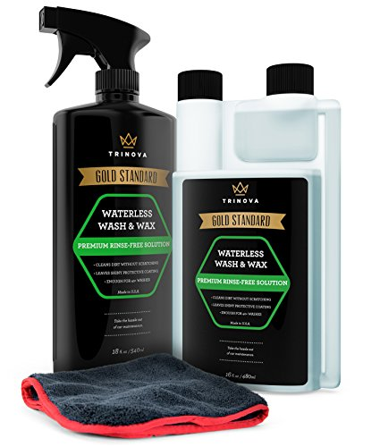 TriNova Waterless Car Wash and Wax Kit - Bug Remover - Clean...