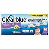 Test d'Ovulation Digital Clearblue Avec Lecture Deux Hormones - 10 Tests