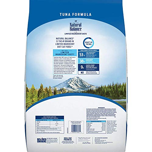 Product Image 3: Natural Balance L.I.D. Limited Ingredient Diets High Protein Dry Cat Food For Adult Cats, Tuna Formula, 11-Pound