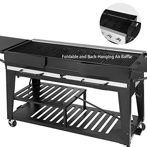 Product Image 7: Royal Gourmet GB8000 8-Burner Liquid Propane Event Gas Grill, BBQ, Picnic, or Camping Outdoor, Black