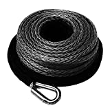 Synthetic Winch Rope 3/8' x 85' - 23809 Ibs Winch Line Cable Rope with Protective Sleeve for 4WD Off Road Vehicle JEEP SUV Motorcycle