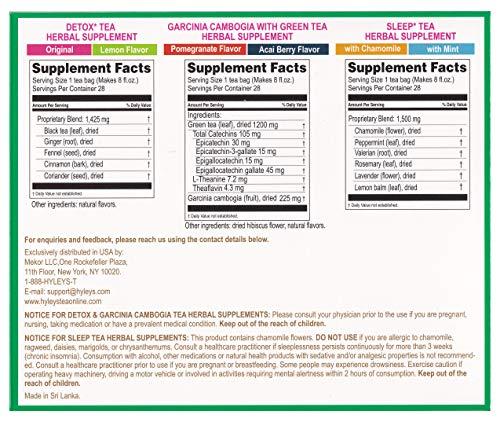 Hyleys Tea 28 Days Detox Kit - 84 Tea Bags - (100% Natural, Sugar Free, Gluten Free and Non-GMO) 9