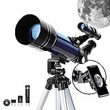 ESSLNB Telescope 70mm Telescope Astronomique Enfant Adulte avec Adaptateur...