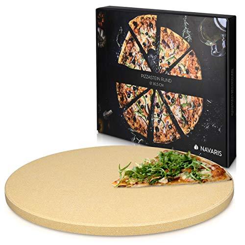 Navaris Pietra refrattaria per Cottura Pizza XL - per cuocere nel Forno di casa Pane Pizza focacce teglia Tonda 30,5 () Cottura Fino a 800 Cordierite