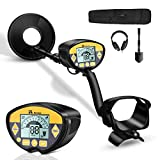 RM RICOMAX Metal Detector - Professional Metal Detector for Adults, Upgraded Waterproof with Superior High-Accuracy Metal Detector, 9'' Detection Depth Gold Detector with LCD Display & Headphone Jack