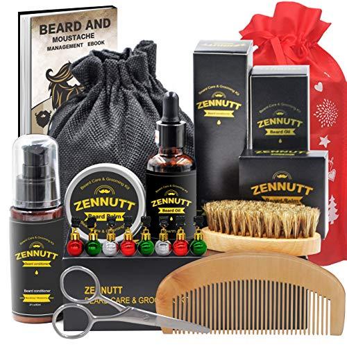 ZENNUTT Kit per la cura della barba con balsamo per barba e burro balsamo per barba e olio per barba