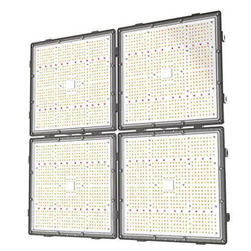 GROPLANNER LED Grow Light 600 Watts 3024pcs LEDs 5x5 Flower 2.4G WiFi Control Full Spectrum LED Grow...